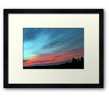 Adorable sunset  Framed Print