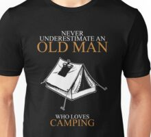 Never Underestimate An Old Man Camping Unisex T-Shirt