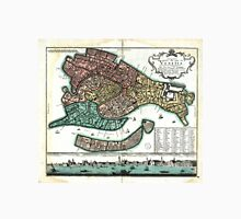 Vintage Map of Venice Italy (1729) Unisex T-Shirt