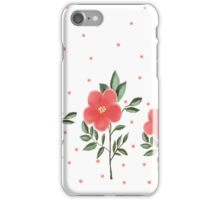 Classic design with red flowers iPhone Case/Skin
