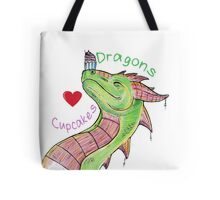 Dragons love Cupcakes! With words Tote Bag