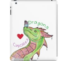 Dragons love Cupcakes! With words iPad Case/Skin