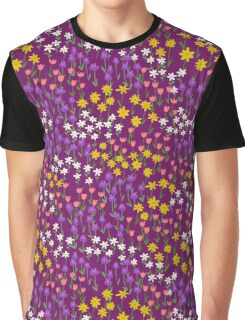 Violet Field of Flowers Graphic T-Shirt