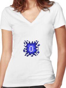 Old School RuneScape - 0HP Damage Splash Women's Fitted V-Neck T-Shirt