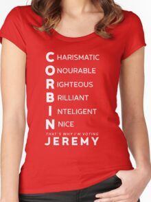 Jeremy FOR lEADER whITE Women's Fitted Scoop T-Shirt
