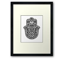 Intricate Hamsa Hand Framed Print