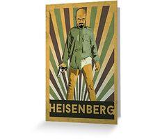 Heisenberg Retro poster Greeting Card