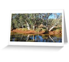 Canning Stock Route. Western Australia-waterhole campsite Greeting Card