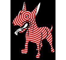 English Bull Terrier Target Red Photographic Print