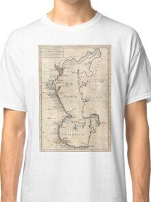 Vintage Map of The Caspian Sea (1730) Classic T-Shirt