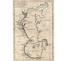 Vintage Map of The Caspian Sea (1730) Photographic Print