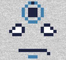 Dr. Manhattan Face Pixels One Piece - Long Sleeve