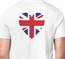 BRITISH, Union Jack, HEART, British Flag, UK, United Kingdom, Pure & simple Unisex T-Shirt
