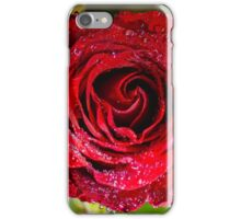 Red Rose with dawn dew. iPhone Case/Skin