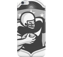 American Gridiron Wide Receiver Running Grayscale iPhone Case/Skin