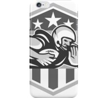 American Football Running Back Fend-Off Crest Grayscale iPhone Case/Skin