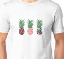 3 Patterned Pineapples Unisex T-Shirt