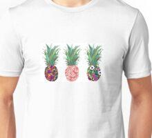 3 Patterned Pineapples Unisex T-Shirt