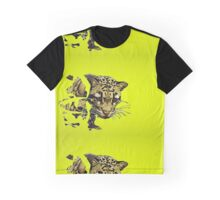 Clouded Leopard in Yellow Graphic T-Shirt