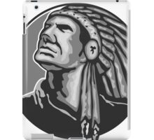 Native American Indian Chief Grayscale iPad Case/Skin