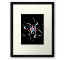 ATOM, ATOMIC, Lithium atom, model, SMALL, Physics, Neutrons, Protons, Electrons, Nuclear, Energy, Fission, Fusion  Framed Print