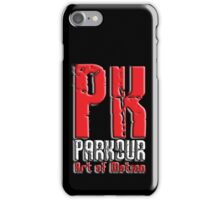 Parkour, PK, Art of Motion, French, Training, on Black iPhone Case/Skin