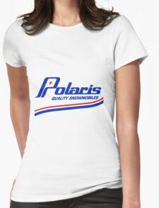 Polaris Vintage Snowmobiles USA Womens Fitted T-Shirt