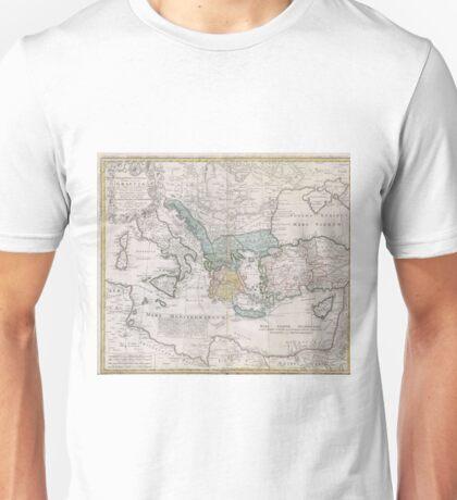 Vintage Map of Greece (1741) Unisex T-Shirt