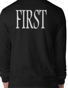 First, Number One, 1, Numero uno, winner, win, White Long Sleeve T-Shirt