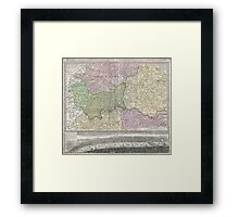 Vintage London England Regional Map (1741) Framed Print