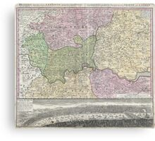 Vintage London England Regional Map (1741) Canvas Print