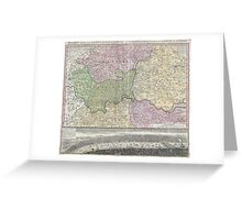 Vintage London England Regional Map (1741) Greeting Card