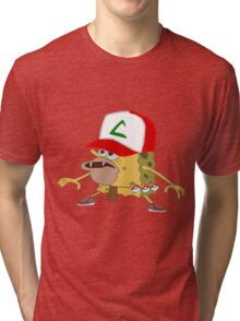 sponge bob pokemon go  Tri-blend T-Shirt