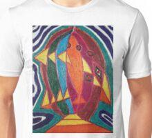 Dali fish - original work on soft wood Unisex T-Shirt