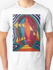 Dali fish - original work on soft wood T-Shirt
