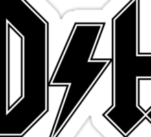 ADHD (Black Print) Sticker