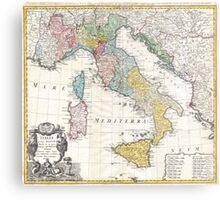 Vintage Map of Italy (1742) Metal Print