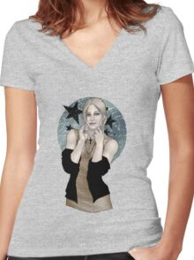 Iris the Undead Women's Fitted V-Neck T-Shirt