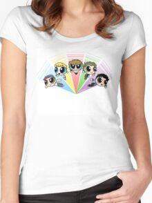 Power puff one direction  Women's Fitted Scoop T-Shirt