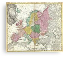 Vintage Map of Europe (1743) Canvas Print