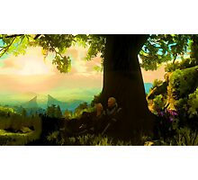 Witcher 3 - Geralt and Ciri under a tree in Toussaint Photographic Print