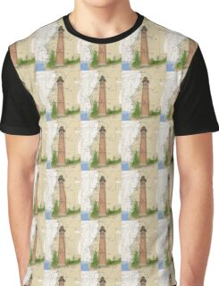 Little Sable Lighthouse MI Chart Cathy Peek Graphic T-Shirt