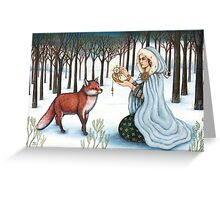The Gift of Time to the Red King Greeting Card