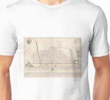 Vintage Map of London England (1744) Unisex T-Shirt