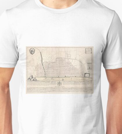 Vintage Map of London England (1744) Unisex T-Shirt