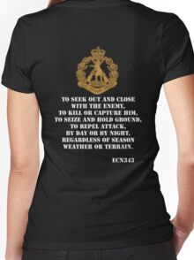 Role of the Infantry  Women's Fitted V-Neck T-Shirt