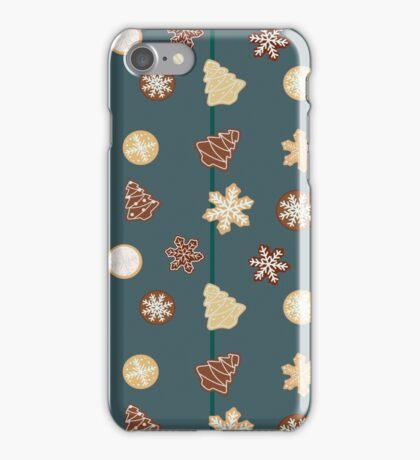 Gingerbread Christmas cookies iPhone Case/Skin