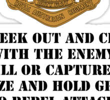 Role of the Infantry for light shirts Sticker