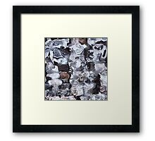 Blue, black, grey and white abstraction Framed Print