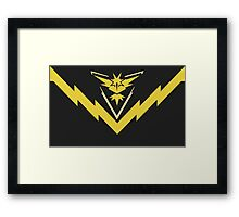 team instinct logo pokemon Framed Print